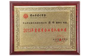 2013年度优秀企业团队组织奖